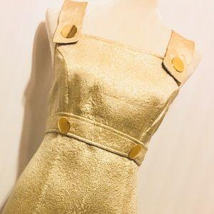 Bebe Light Gold Mini Dress